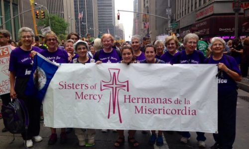 Climate March In NYC- Christine And Quetzalli Meet Up With The Sisters Of Mercy