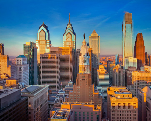 Philadelphia Skyline William Penn 680uw